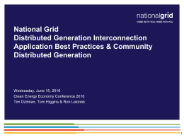 Distributed Generation Interconnection Application Best Practices and