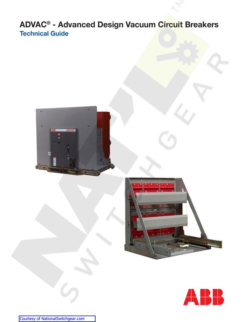 Advac Advanced Design Vacuum Circuit Breakers Electrical Standards Breaker Working Principle And