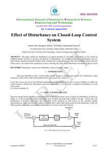 Effect of Disturbance on Closed-Loop Control System