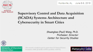Supervisory Control and Data Acquisition (SCADA) Systems