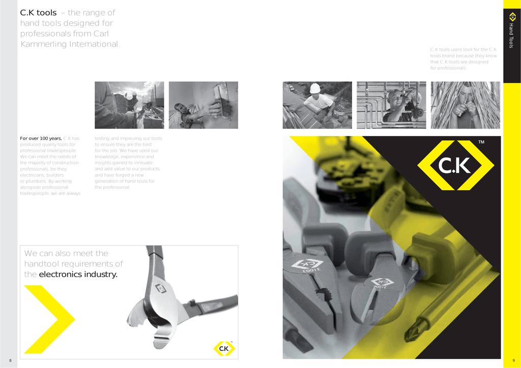 CK Tools T3780F Precision Side Cutter Full Flush Cut 110 mm
