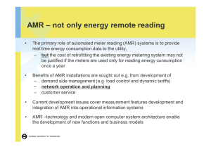 automated meter reading systems in network management