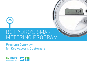 BC Hydro Smart Metering Program