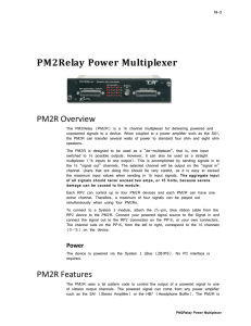 PM2Relay Power Multiplexer