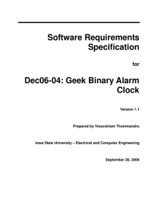 Software Requirements Specification - ECpE Senior Design