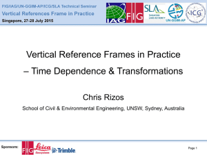 Vertical Reference Frames in Practice – Time Dependence