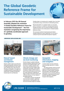 The Global Geodetic Reference Frame for Sustainable Development