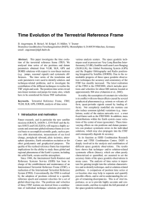 Time Evolution of the Terrestrial Reference Frame