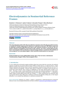 Electrodynamics in Noninertial Reference Frames