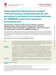 Atrial antitachycardia pacing and managed ventricular pacing in