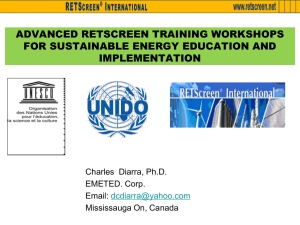 Advanced Retscreen Training Workshops for Sustainable Energy