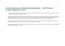 Physics, 3-year - Pearson Schools and FE Colleges