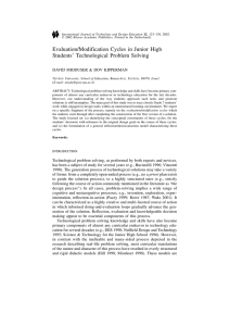 Evaluation/modification cycles in junior high students` technological