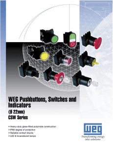 WEG Pushbuttons, Switches and Indicators