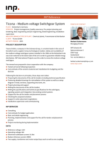 Ticona – Medium-voltage Switchgear System