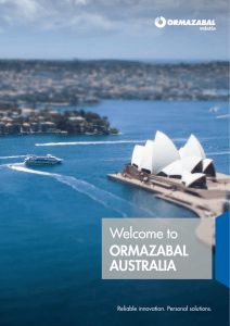 ORMAZABAL AUSTRALIA Welcome to