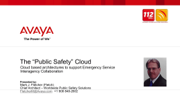 "The ""Public Safety"" Cloud"