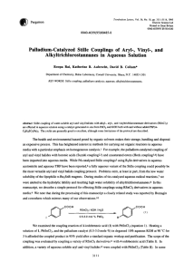 Palladium-Catalyzed Stille Couplings of Aryl-, Vinyl