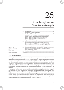 Graphene/Carbon Nanotube Aerogels - CNT-NUS