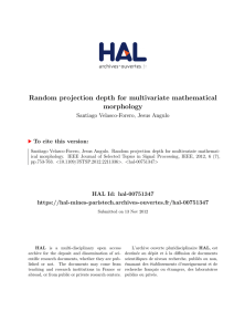 Random projection depth for multivariate mathematical