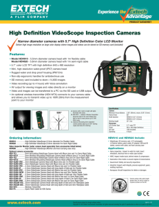 HDV610, HDV620 - High Definition VideoScope