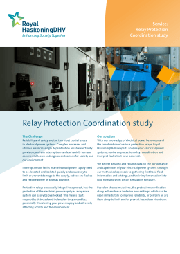 Relay Protection Coordination study
