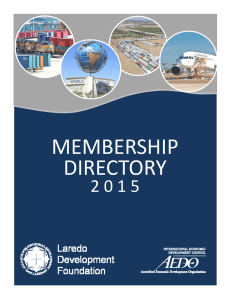 2015 Membership Directory - Laredo Development Foundation