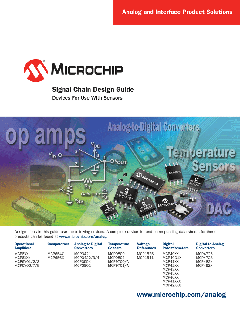 Microchipcom Analog Signal Chain Design Guide 4single K Type Thermocouple Amplifier And Digital Converter Circuit