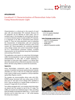 Localized I-V Characterization of Photovoltaic Solar Cells Using