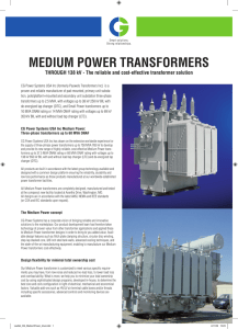Secondary Substation Transformers (SST)