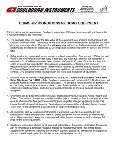 Demo Equipment Terms - Coulbourn Instruments