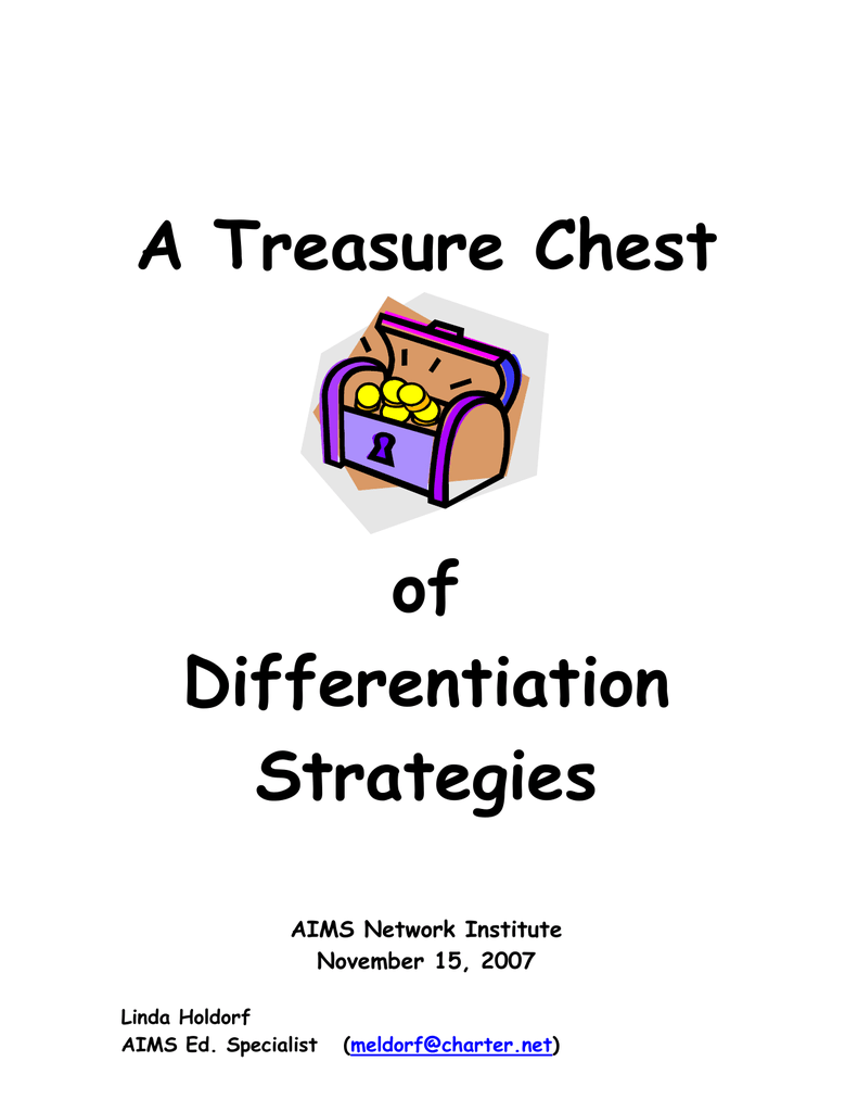 A Treasure Chest Of Differentiation Strategies