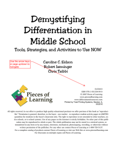 Demystifying Differentiation in Middle School