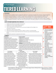 Tiered Learning Strategy LB NEW