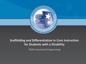 Scaffolding and Differentiation in Core Instruction