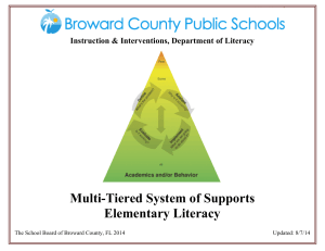 Multi-Tiered System of Supports Elementary Literacy