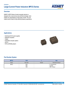 Large-Current Power Inductors MPCG Series