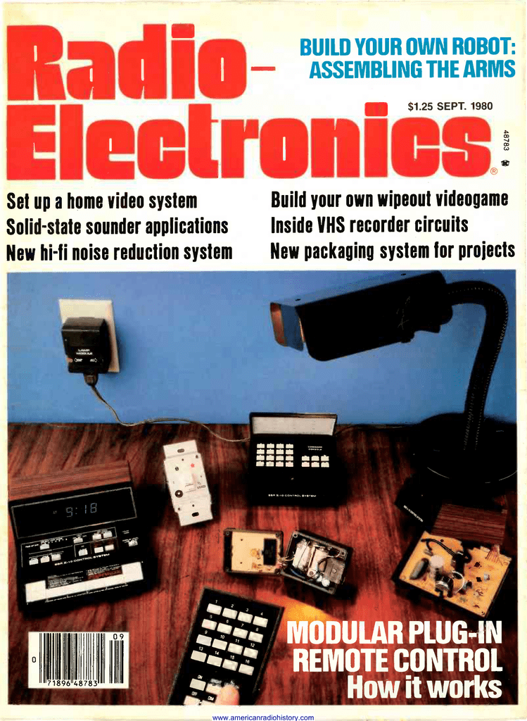 build your own robot assembling the arms1980 build your own wipeout videogame home video system solid slate sounder applications inside vhs recorder circuits