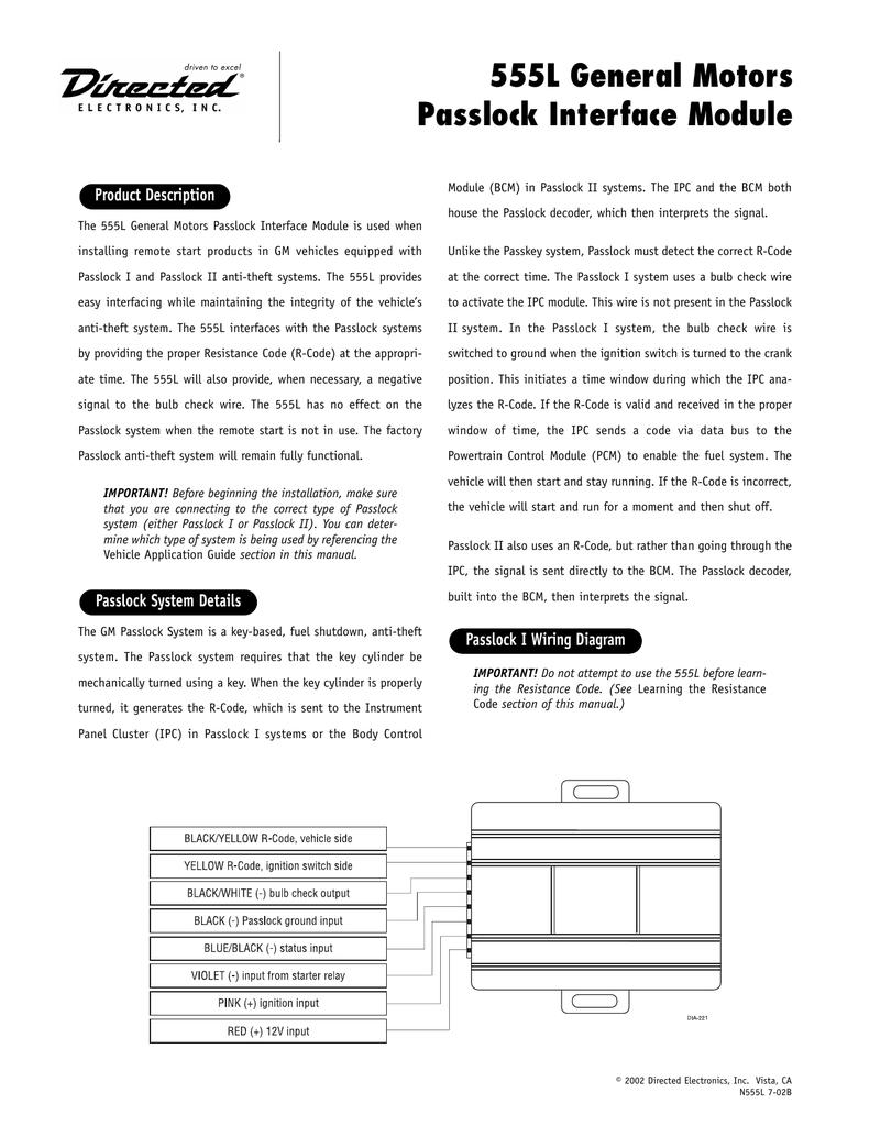 Groovy 555L General Motors Passlock Interface Module Wiring 101 Ferenstreekradiomeanderfmnl