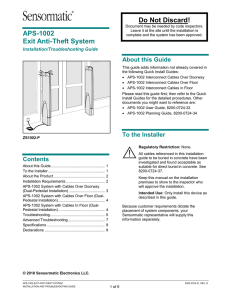APS-1002 Installation and Troubleshooting Guide 8200-0724-31