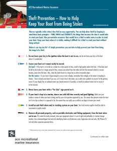 Theft Prevention – How to Help Keep Your Boat from Being Stolen