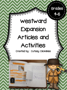 Westward Expansion Articles and Activities