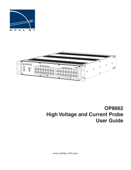 OP8662 High Voltage and Current Probe User Guide