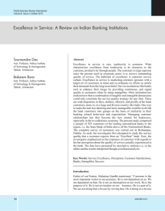 Excellence in Service: A Review on Indian Banking Institutions