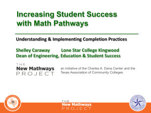 Increasing Student Success with Math Pathways