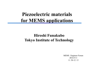 Piezoelectric materials for MEMS applications