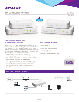 Home/Office Ethernet Switches