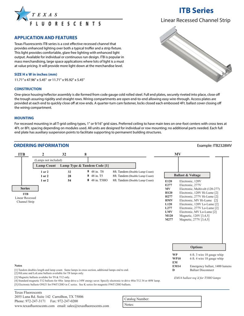 ITB Series - Texas Fluorescents