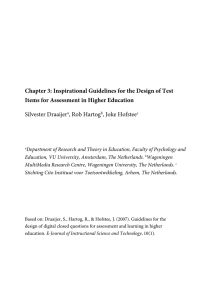 Chapter 3: Inspirational Guidelines for the Design - VU