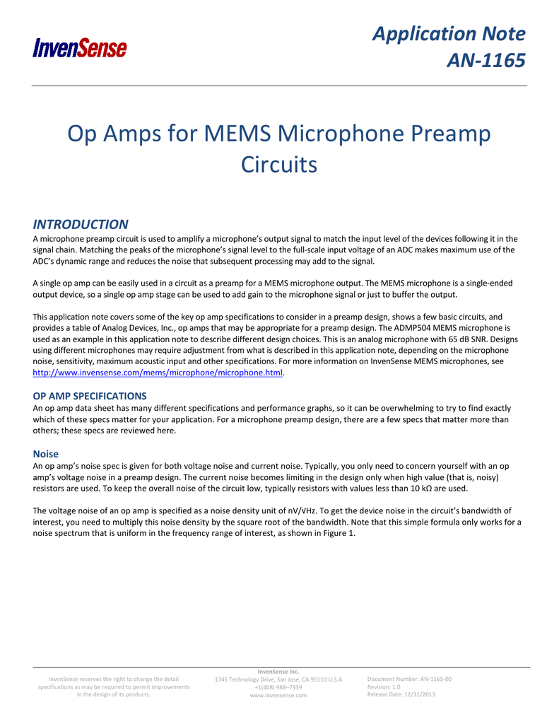 Op Amps For Mems Microphone Preamp Circuits Pre Amp Circuit 018636656 1 7f7adbe198d11012ddc95833a8de72f9